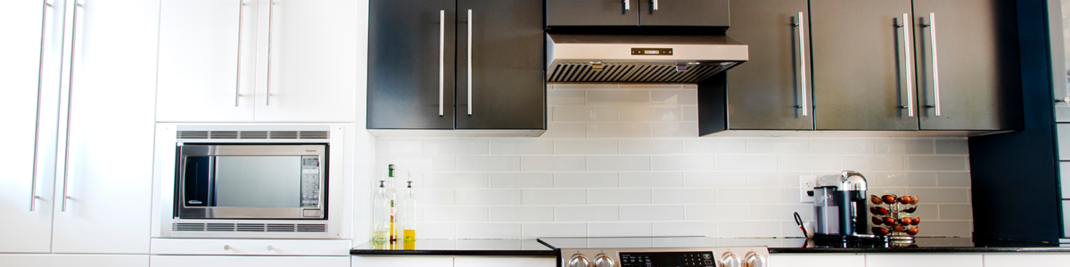 N-Hance black and white cabinets