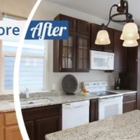 Before and After of a Kitchen