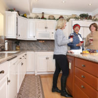 happy customers in a kitchen