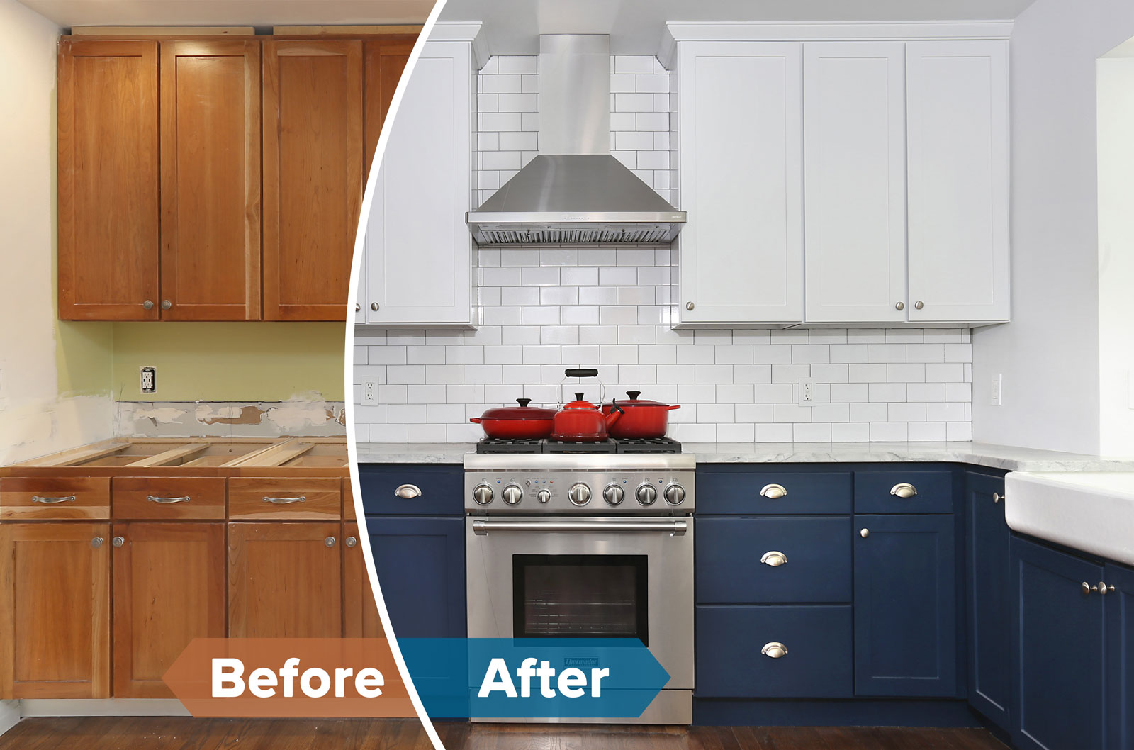 N-Hance Wood Refinishing Franchise before and after kitchen cabinets