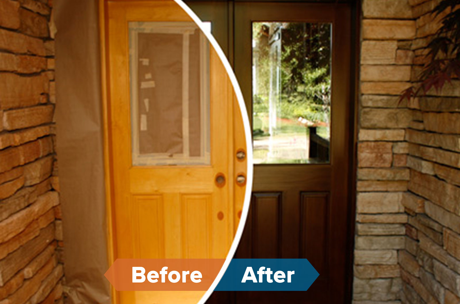 wood refinishing franchise before and after