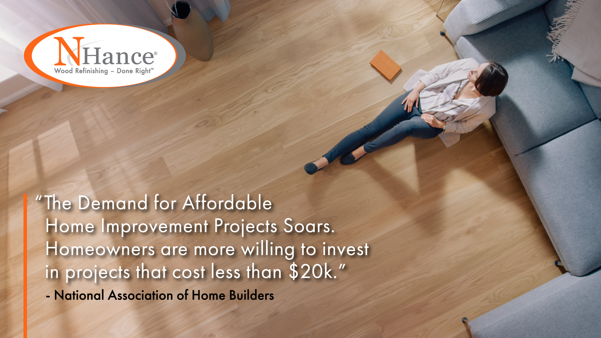 N-Hance franchise infographic about home improvement projects souring because homeowners want less expensive projects